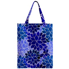 Azurite Blue Flowers Classic Tote Bag by KirstenStar