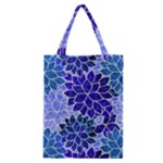 Azurite Blue Flowers Classic Tote Bag