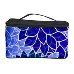 Azurite Blue Flowers Cosmetic Storage Case