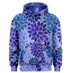 Azurite Blue Flowers Men s Zipper Hoodie