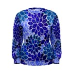 Azurite Blue Flowers Women s Sweatshirt