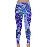 Azurite Blue Flowers Yoga Leggings