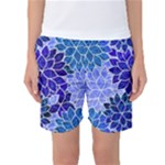 Azurite Blue Flowers Women s Basketball Shorts