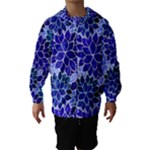 Azurite Blue Flowers Hooded Wind Breaker (Kids)