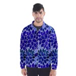 Azurite Blue Flowers Wind Breaker (Men)