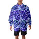 Azurite Blue Flowers Wind Breaker (Kids)