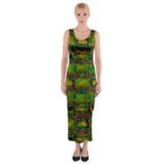 Paint Bricks                                                                 Fitted Maxi Dress by LalyLauraFLM