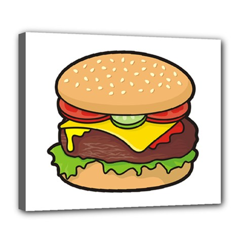 Cheeseburger Deluxe Canvas 24  X 20   by sifis