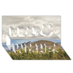 Ecuadorian Landscape At Chimborazo Province Best Wish 3d Greeting Card (8x4)