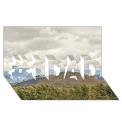 Ecuadorian Landscape At Chimborazo Province #1 Dad 3d Greeting Card (8x4)  by dflcprints