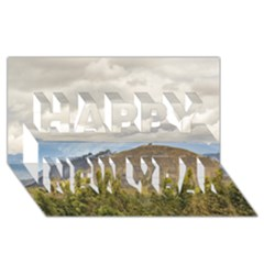 Ecuadorian Landscape At Chimborazo Province Happy New Year 3d Greeting Card (8x4)