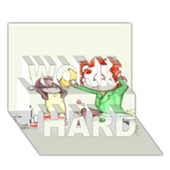 Mud Pies  Work Hard 3d Greeting Card (7x5)