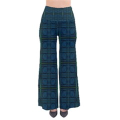 Dark Blue Teal Mod Circles Pants by BrightVibesDesign