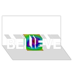 Colors Believe 3d Greeting Card (8x4)