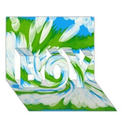 Tie Dye Green Blue Abstract Swirl Boy 3d Greeting Card (7x5) by BrightVibesDesign