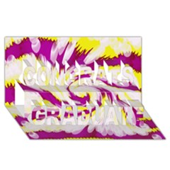 Tie Dye Pink Yellow Abstract Swirl Congrats Graduate 3d Greeting Card (8x4)  by BrightVibesDesign
