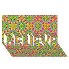 Modern Colorful Geometric Believe 3d Greeting Card (8x4)  by dflcprints