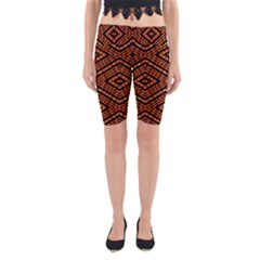 Fire N Flame Yoga Cropped Leggings