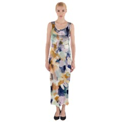 Lee Abstract Fitted Maxi Dress by LisaGuenDesign
