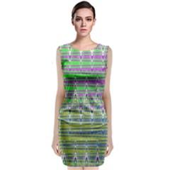 Colorful Zigzag Pattern Classic Sleeveless Midi Dress by BrightVibesDesign