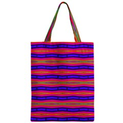 Bright Pink Purple Lines Stripes Classic Tote Bag by BrightVibesDesign