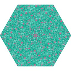 Pink And Teal Leafy Mini Folding Umbrella by LisaGuenDesign