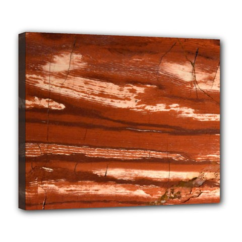 Red Earth Natural Deluxe Canvas 24  X 20   by UniqueCre8ion