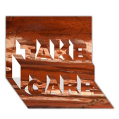 Red Earth Natural Take Care 3d Greeting Card (7x5)  by UniqueCre8ion