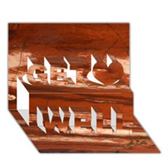 Red Earth Natural Get Well 3d Greeting Card (7x5)  by UniqueCre8ion