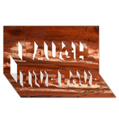 Red Earth Natural Laugh Live Love 3d Greeting Card (8x4)  by UniqueCre8ion