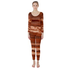 Red Earth Natural Long Sleeve Catsuit by UniqueCre8ion