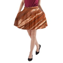 Red Earth Natural A Line Pocket Skirt by UniqueCre8ion