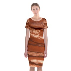 Red Earth Natural Classic Short Sleeve Midi Dress by UniqueCre8ion