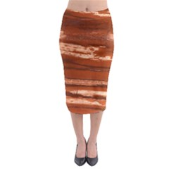 Red Earth Natural Midi Pencil Skirt by UniqueCre8ion