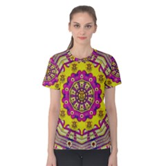 Celebrating Summer In Soul And Mind Mandala Style Women s Cotton Tee by pepitasart