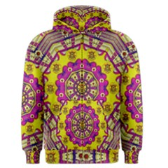 Celebrating Summer In Soul And Mind Mandala Style Men s Zipper Hoodie by pepitasart