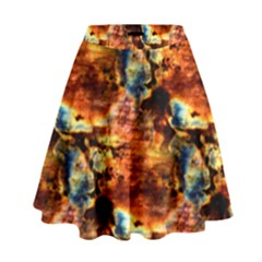 Natural Sunset Happy Mother Earth High Waist Skirt by UniqueCre8ion