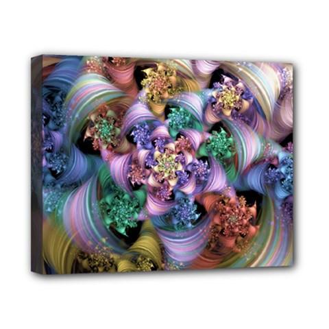 Bright Taffy Spiral Canvas 10  X 8  by WolfepawFractals