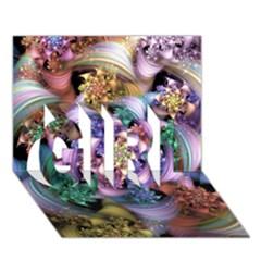 Bright Taffy Spiral Girl 3d Greeting Card (7x5)