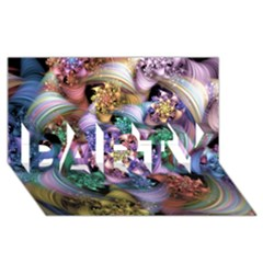 Bright Taffy Spiral Party 3d Greeting Card (8x4)