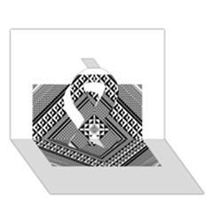 Geometric Pattern Vector Illustration Myxk9m   Ribbon 3d Greeting Card (7x5)  by dsgbrand
