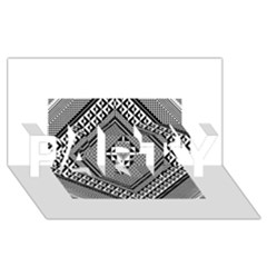 Geometric Pattern Vector Illustration Myxk9m   Party 3d Greeting Card (8x4)  by dsgbrand