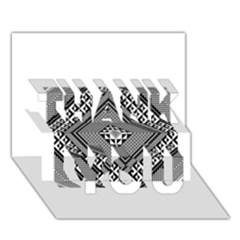 Geometric Pattern Vector Illustration Myxk9m   Thank You 3d Greeting Card (7x5)  by dsgbrand