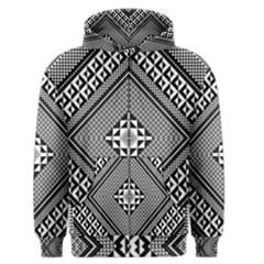 Geometric Pattern Vector Illustration Myxk9m   Men s Zipper Hoodie by dsgbrand