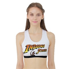 Women s Reversible Sports Bra with Border Inside Front