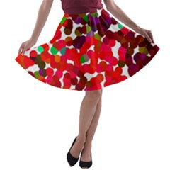 Abstract Land2 111 A Line Skater Skirt by BIBILOVER