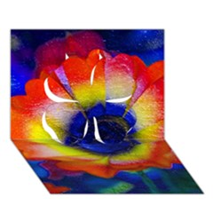 Tie Dye Flower Clover 3D Greeting Card (7x5)  by MichaelMoriartyPhotography