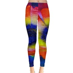 Tie Dye Flower Leggings  by MichaelMoriartyPhotography