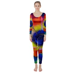 Tie Dye Flower Long Sleeve Catsuit by MichaelMoriartyPhotography