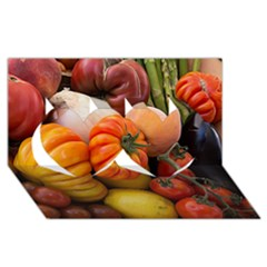Heirloom Tomatoes Twin Hearts 3d Greeting Card (8x4)